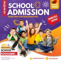 Back to school ,School admission Vierkant (1:1) template