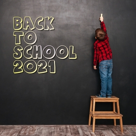 Back To SCHOOL 2021 Instagram Post template