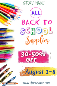 Back to School Ad Poster Template