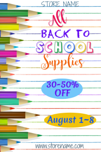 Back to School Ad Template