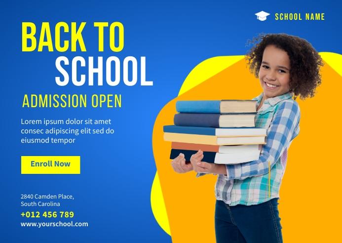 Back to School Banner Template Briefkaart