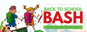 Back to school bash facebook cover template