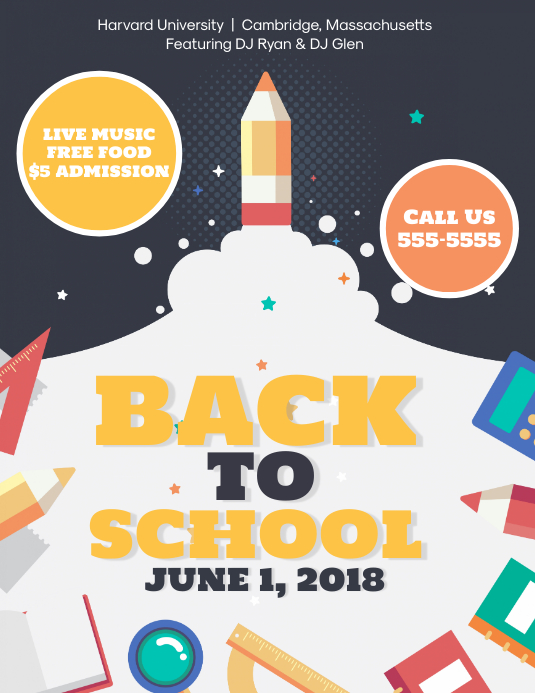 Back to School Bash Flyer Template