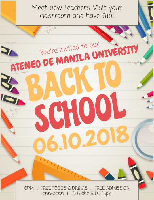 Back to School Bash Flyer Template Pamflet (Letter AS)