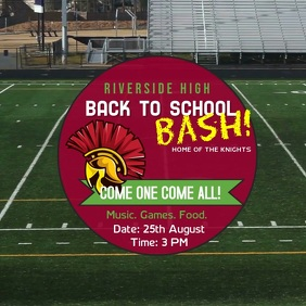 Back to school bash invite