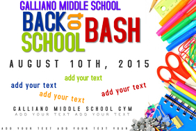 Back to School Bash Event Education Supplies Poster