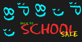 back to school chalkboard facebook ad