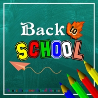 Back to School Logo template