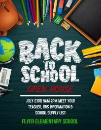 Back to school 传单(美国信函) template
