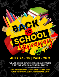 Back To School Flyer (US Letter) template