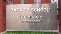 BACK TO SCHOOL Digital Display (16:9) template