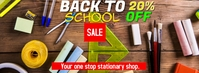 back to school Facebook 封面图片 template