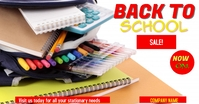 back to school Facebook 广告 template