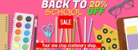 back to school Facebook Cover Photo template