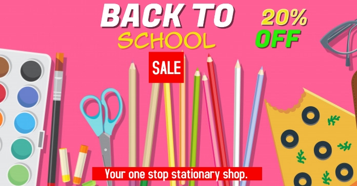 back to school Facebook Ad template