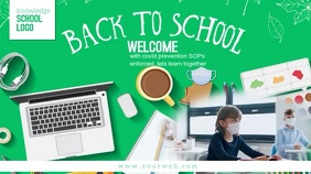 Back to school Digital Display (16:9) template
