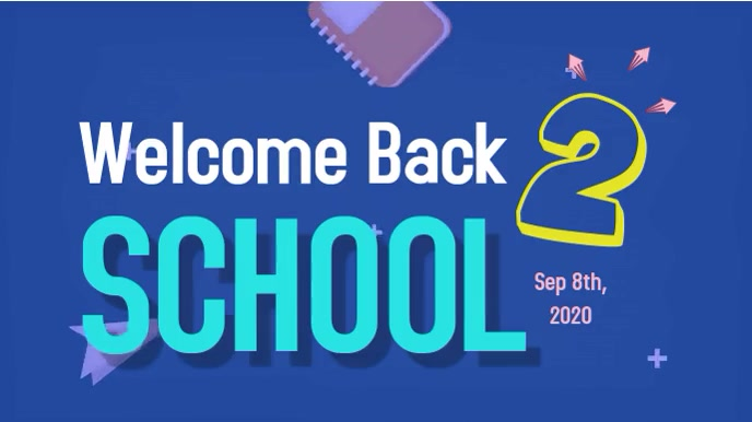 Back to School Digital Video template