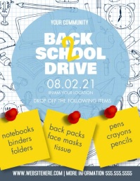 Back to School Drive Supplies Flyer template