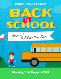 Back to School Education Fair Event Flyer Template