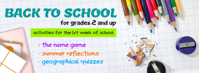 Back to School Event Announcement Facebook Cover Template