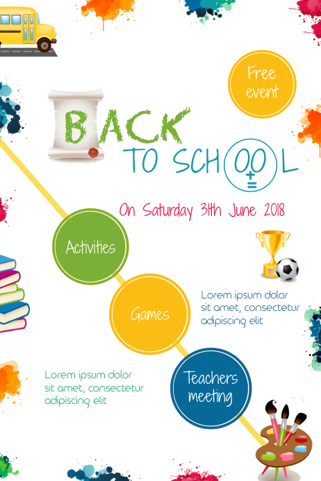 Back to school event 海报 template