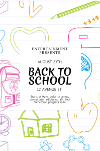 Back to School Event Flyer Poster template