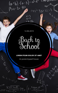 Back to school Event Flyer Template Sampul Buku