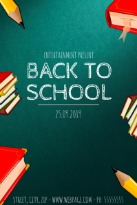 Back to school event flyer template Poster