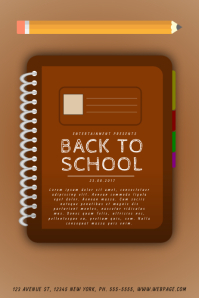 Back to school Event Flyer
