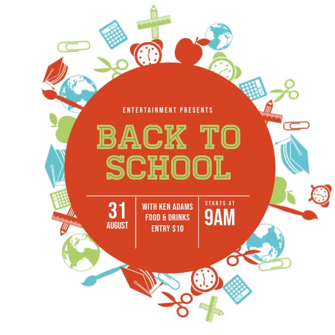 Back to School Event Video template