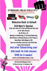 back to school fitness Plakat template