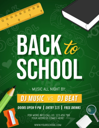 Back to School Flyer, School Flyer