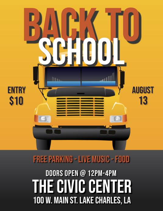 BACK TO SCHOOL FLYER Pamflet (Letter AS) template
