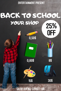 Back to school flyer event