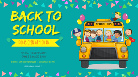 BACK TO SCHOOL FLYER TEMPLATE Digital Display (16:9)
