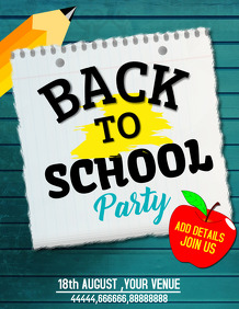 Back to school flyers,event flyers,admission