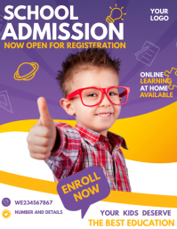 Back to school flyers,School admission flyer Folheto (US Letter) template