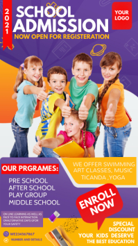Back to school flyers,School admission flyers Instagram Story template