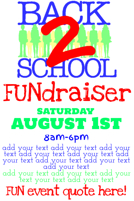 Simple Back to School Fundraiser Flyer Poster Template | PosterMyWall