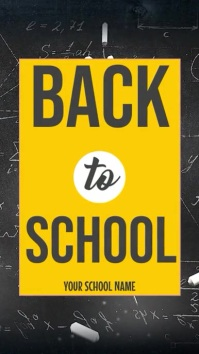 Back to School Instagram Story template