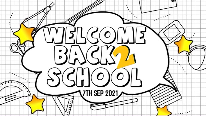 Back to School Instagram Video Template Tampilan Digital (16:9)