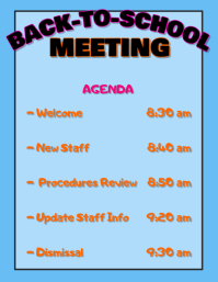 Back To School Meeting Agenda