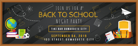 Back to School Night Party Banner template
