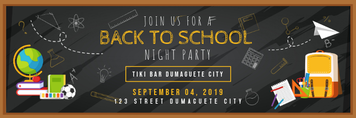 Back to School Night Party Banner
