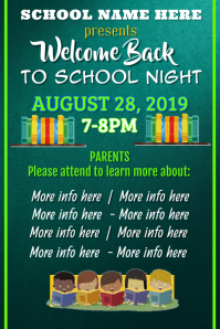 Back to School Night Poster template