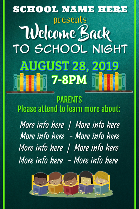 Back to School Night Poster
