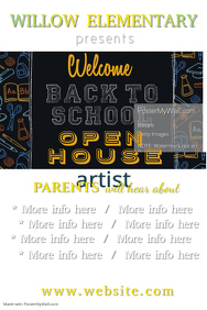 Back to School Open House Poster