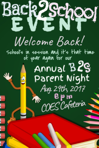 Back to School Parent Night Educational Community Event