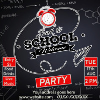 back to school party Publicação no Instagram template