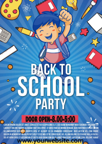 BACK TO SCHOOL PARTY A4 template
